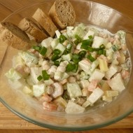 Cizrnový salát se zakysanou smetanou recept