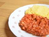 Rajčatové bílé fazole s parmazánovou polentou recept ...