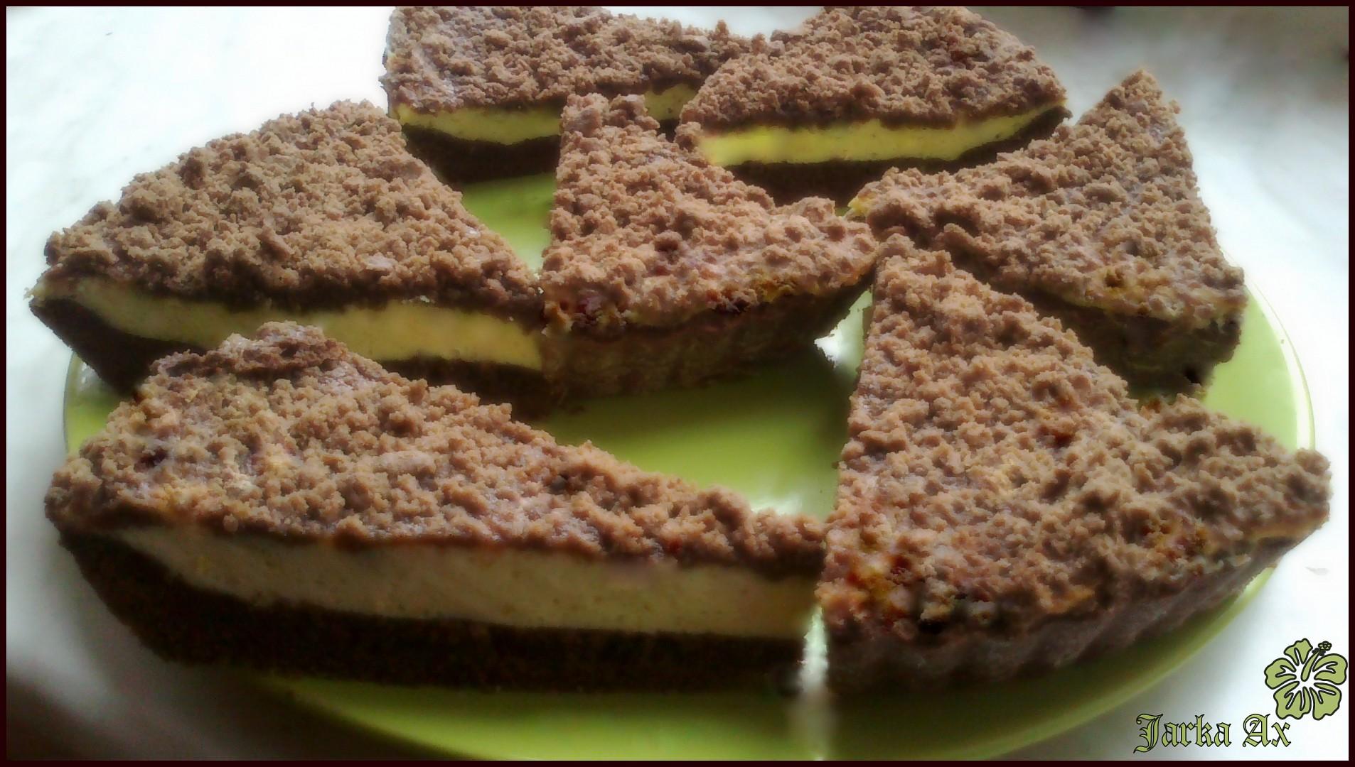 Výtečný tvarohový koláč s kakaovou drobenkou recept  TopRecepty ...