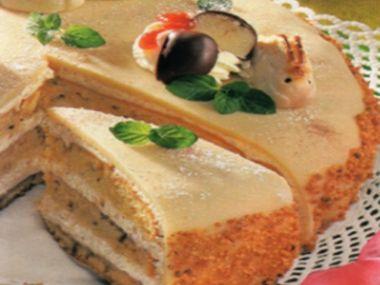Velikonoční marcipánový dort
