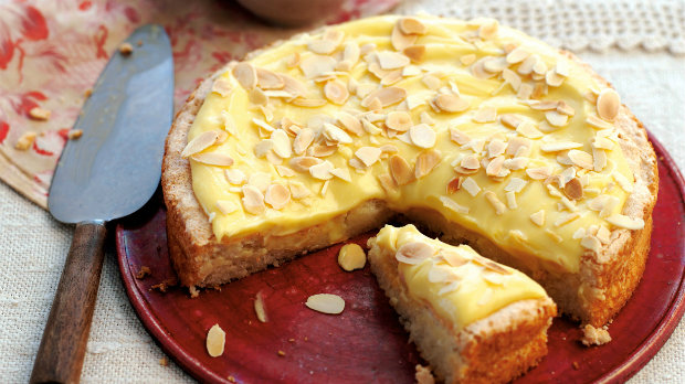 Švédský vanilkový koláč s mandlemi