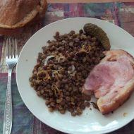 Suchá čočka s uzenou krkovicí recept