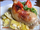 Hořčično-medové kuře s bramborami recept