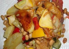 Zeleninová balkánská směs s fazolemi recept