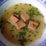 Cuketová polévka s chlebem recept
