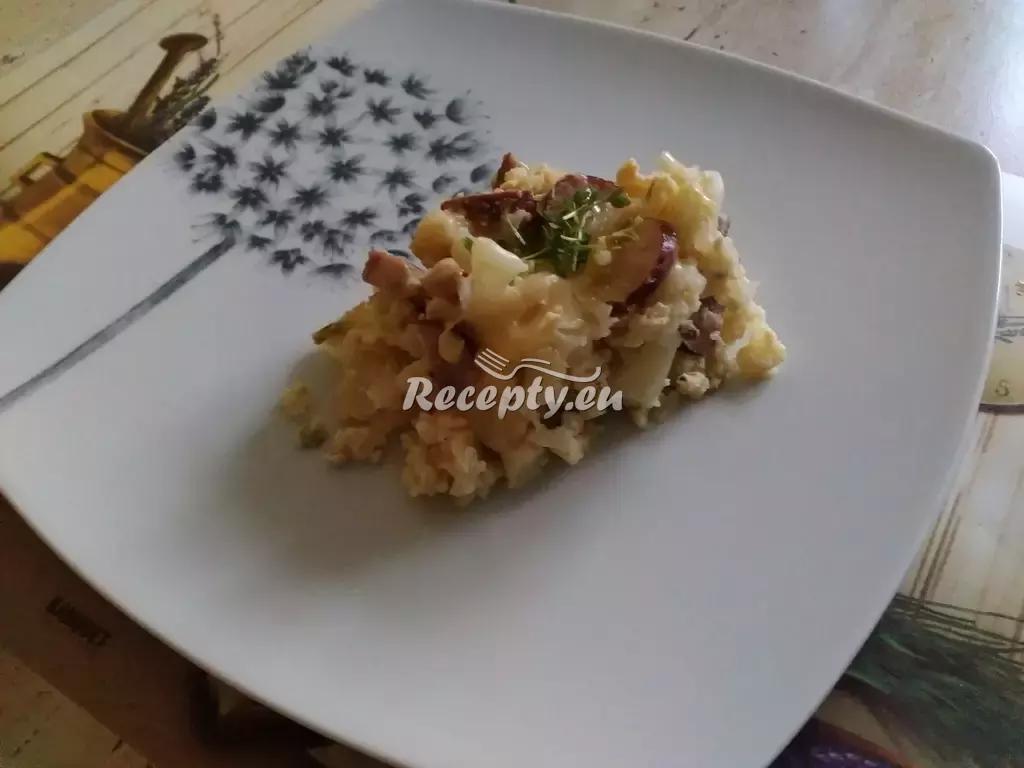 Květák na mozeček s klobáskou recept  zeleninové pokrmy ...