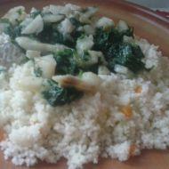 Kuskus s treskou a špenátem recept