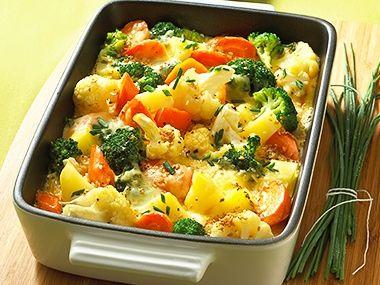 Brambory s blanšírovanou zeleninou