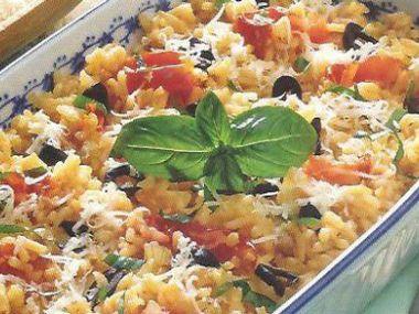 Rýže s rajčaty a sýrem