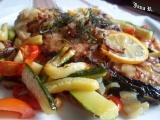 Grilovaný platýz na zelenině recept