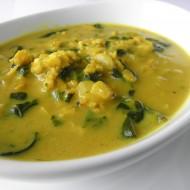 Špenátová polévka s ovesnými vločkami recept