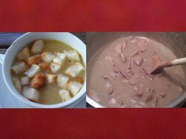 Oběd 39  Polévka na divoko a ledvinky po štýrsku