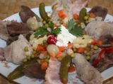 Masitý salát recept