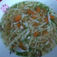 Hovězí polévka s domácími nudlemi recept
