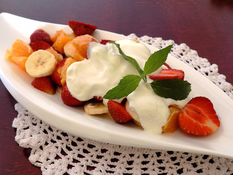Jahodový salát recept