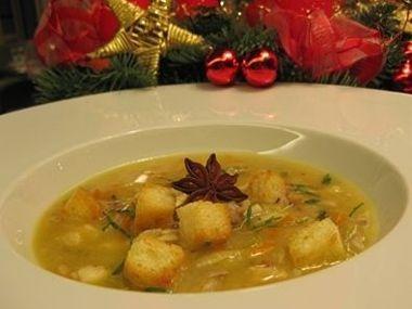 Štědrovečerní grunt  polévka