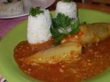 Papriky plněné mixem z masa, hlívy a rýže recept