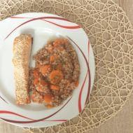 Pečený losos se sezamem s pohankovo-mrkvovou kaší recept ...