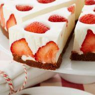 Jahodový cheesecake recept