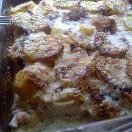 Zapečená kotleta s brambory a šlehačkou recept