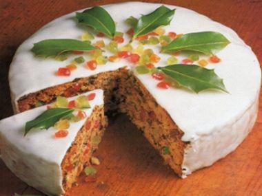 Vánoční ovocný dort