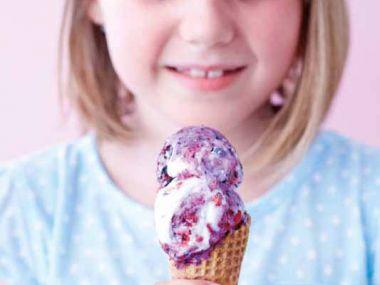 Jogurtová šmoulí zmrzlina
