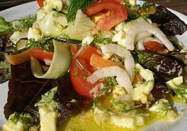 Fenyklovo  zeleninový salát s vaječnou zálivkou recept ...