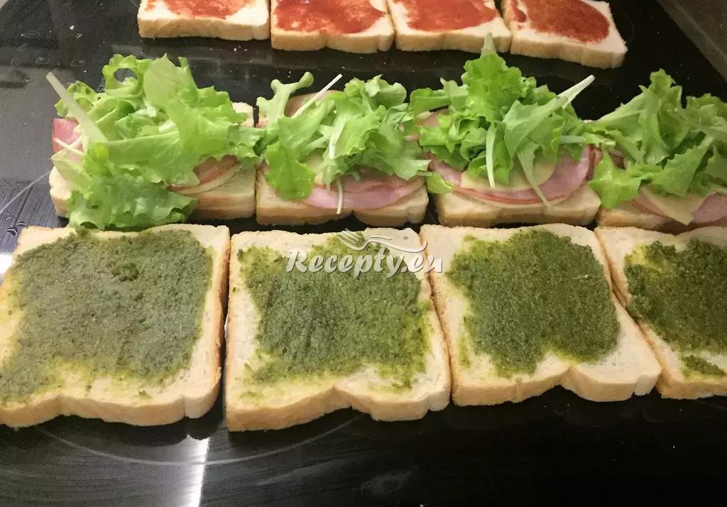 Toasty se salámem a olivou recept  topinky, toasty, sendviče ...