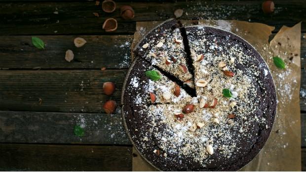 Oříškovo-čokoládový koláč