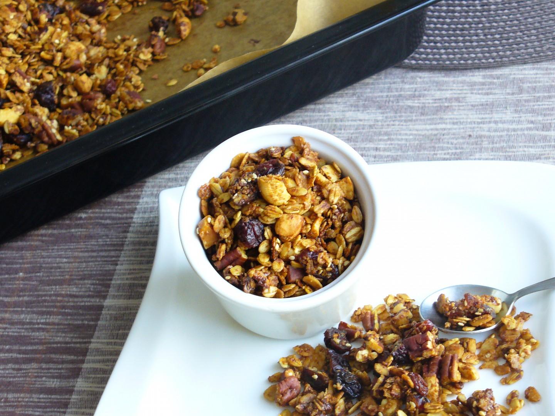 Ořechová granola recept