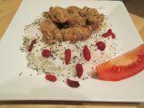 Sójové kostky na hořčici s rýží a chia semínky recept
