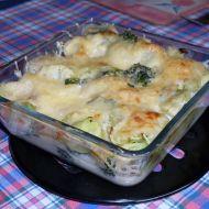Zapečená brokolice a květák s bešamelem recept