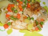 Rybí filé na zelenině recept