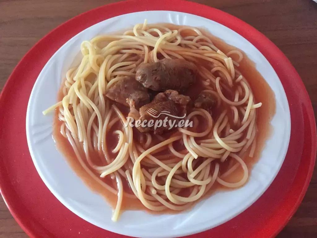 Pikantní špagety recept  těstoviny