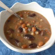 Polévka ze dvou druhů fazolí recept