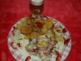 Plněná kapsa anglickou slaninou a syrečkama recept