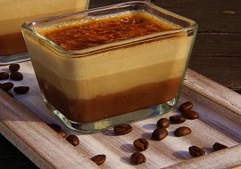 Čokoládovo  kávové créme brulée recept