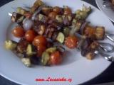 Špízy z paneeru a zeleniny recept