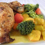 Kuřecí čtvrtky s dýní a brokolicí recept