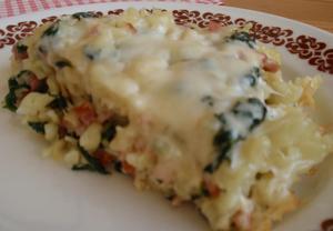 Anglické těstoviny se špenátem a sýrem