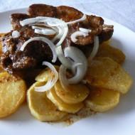 Přírodní plátky vepřové krkovice recept
