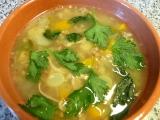 Masová polévka s pohankou a bylinkami recept