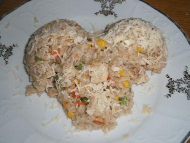 Rizoto se zeleninou a kuřecím masem