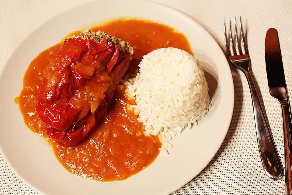 Papriky plněné masem a kapary recept