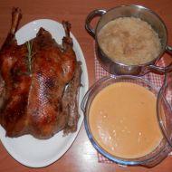 Plněná pečená husa recept