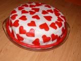 Srdíčkový dort k výročí recept