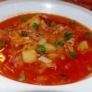 Zelná polévka s debrecínkou recept