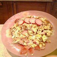 Míchaná vajíčka s ředkvičkou recept