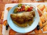 Pikantní směs z mletého masa v bramboráku recept