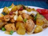 Kuřecí s brambory, cuketou a žampiony recept